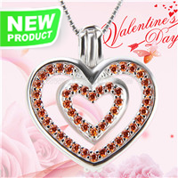 Romantic design 925 sterling silver Beautiful love cage pendant