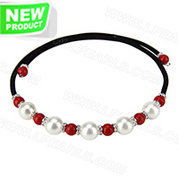 wholesale latest white and Red coral beads adjustable necklace