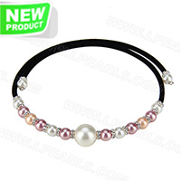 wholesale latest white and purple beads adjustable necklace