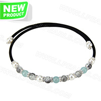 wholesale latest jade and crystal beads adjustable necklace