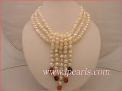 6-7mm smooth-on-both side white pearl necklace