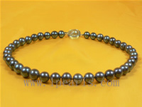 10-11mm black cultured freshwater jewelry pearl necklace