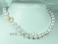 10-11mm white cultured freshwater jewelry pearl necklace