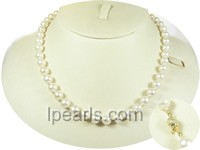 8-9mm white cultured freshwater jewelry pearl necklace