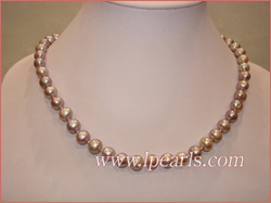 Freshwater jewelrypearl necklaces 8-9mm