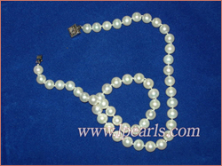 A+ 8-9mm white freshwater jewelry pearl necklace,Different lengt