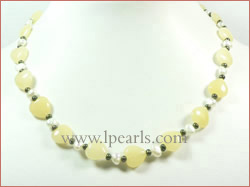long drilled heart-shaped topaz freshwater pearl jewelry