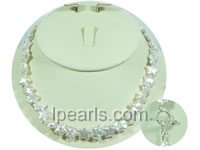 10mm pentacle white freshwater jewelry pearl necklace