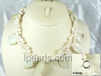 6-7mm oval shape cultured freshwater pearl necklace