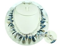 potato shaped pearl necklace with blister pearls