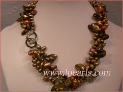 top drill pearl necklace with blister pearls