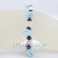 6-7mm black freshwater  jewelry pearl bracelet