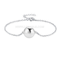New 925 sterling silver Anchor shape Akoya pearl bracelet