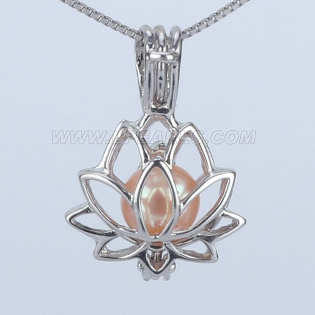 Wholesale 925 sterling silver lotus pearl cage pendant necklace lp wholesale 925 sterling silver lotus pearl cage pendant necklace mozeypictures Image collections