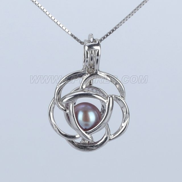 Women 925 sterling silver rose locket pearl pendant necklace lp women 925 sterling silver rose locket pearl pendant necklace mozeypictures Image collections