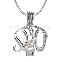 wholesale elephant 925 sterling silver locket pendant necklace
