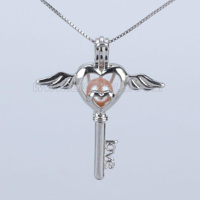 925 sterling silver angel heart key locket pendant necklace lp pearl 925 sterling silver angel heart key locket pendant necklace aloadofball Choice Image