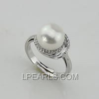 10-10.5mm 925 sterling silver pearl ring on wholesale