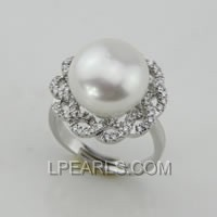 13-14mm 925 sterling silver pearl ring on wholesale
