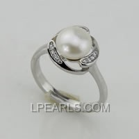 8-8.5mm 925 sterling silver pearl ring on wholesale