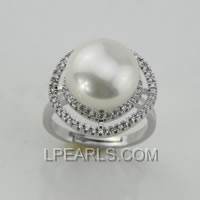 13-14mm 925 sterling silver pearl ring on sale