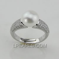 9-9.5mm 925 sterling silver pearl ring on sale