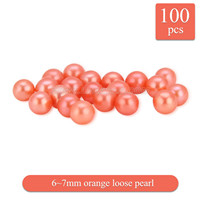 Halloween new color 6-7mm orange round Akoya loose pearl 100pcs