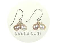 6*8mm fancy freshwater pearl Jewelry earrings