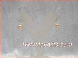 9-9.5mm pink freshwater pearls jewelry sterling earring