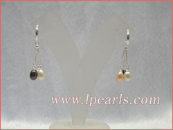 multicolor tear-drop pearl earring