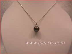 13mm black perfact round  jewelry pearl pendant