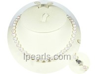"16.5"" 6.5-7mm Sterling silver akoya jewelry pearl necklace"