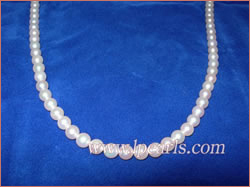 AAA+ sea water akoya pearl jewelry necklace