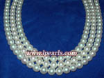 AAA+ white akoya pearl jewelry strands