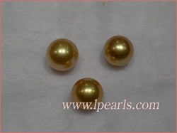11-12mm golden yellow South sea pealrs