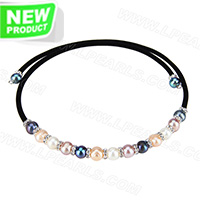 wholesale fashion colorful fresh water pearl adjustable necklace