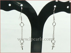 925 sterling silver dangling hook shaped earring mountings