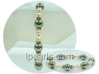 12mm green shell pearls jewelry bracelet