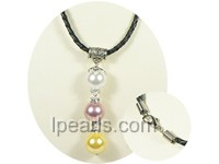 12mm seashell Freshwater  jewelry pearl necklaces