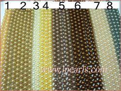 14mm two tone shell jewelry pearl strands