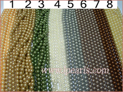 different colors pearl strands