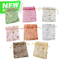 100pcs Nice silk jewelry bag with 8 colors