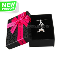 wholesale Black with hot pink gift box for Jewelry holding 24pcs