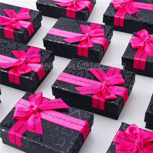 Wholesale Black With Hot Pink Gift Box For Jewelry Holding 24pcs Lp