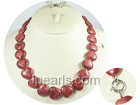 20mm heart-shape red coral jewelry necklace