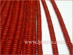6-6.25mm Red Disc coral strands jewelry wholesale