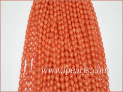 4x7mm pink rice shaped coral strands jewelry wholesale