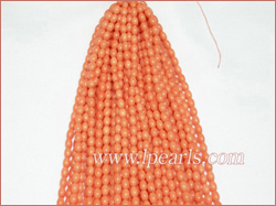 4x6mm pink rice shaped coral strands jewelry wholesale