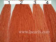 pink rice shaped coral strands jewelry wholesale
