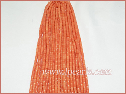 Wholesale red tube coral strands,6x10mm jewelry size